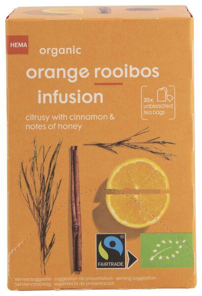 thee bio sinaasappel rooibos infusie 20 stuks - 17190006 - HEMA