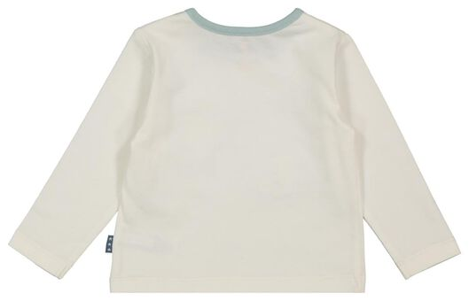 newborn t-shirt luchtballon gebroken wit - 1000022078 - HEMA