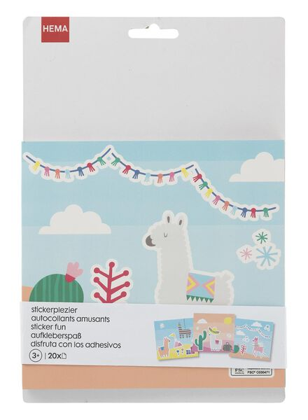 kleur- en stickerboek alpaca - 15920145 - HEMA