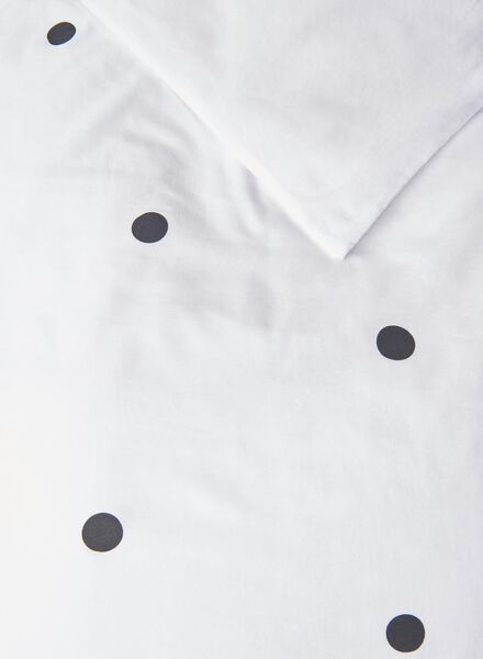 dekbedovertrek - zacht katoen - stippen wit - 1000016798 - HEMA