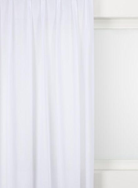 gordijnstof voile basic wit voile basic - 7220701 - HEMA