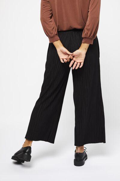 damesbroek plissé zwart XL - 36219779 - HEMA