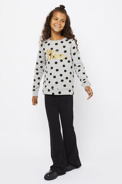 kindersweater shine grijsmelange grijsmelange - 1000021601 - HEMA
