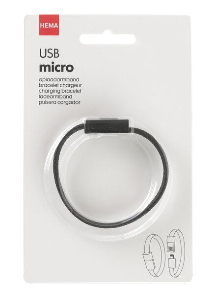 USB oplaadarmband USB-mirco - 39610065 - HEMA