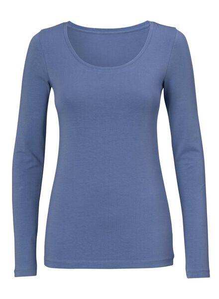 dames t-shirt - biologisch katoen blauw blauw - 1000005239 - HEMA