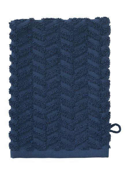 washand - zware kwaliteit - jeansblauw zigzag - 5200067 - HEMA