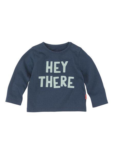 newborn t-shirt blauw blauw - 1000013029 - HEMA