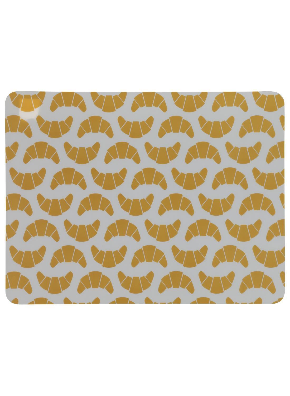 HEMA Placemat - 32 X 42 - Kunststof - Geel Croissants (geel)