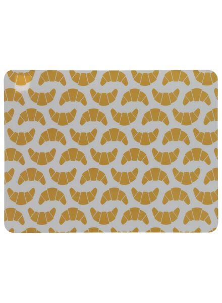 placemat - 32 x 42 - kunststof - geel croissants - 5300067 - HEMA
