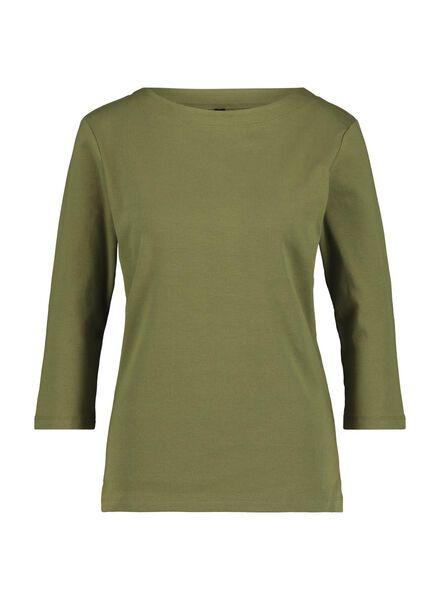 dames top legergroen legergroen - 1000015184 - HEMA