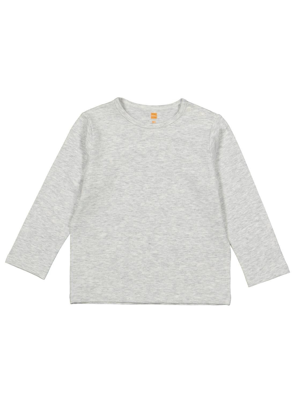 HEMA Baby T-shirt Met Bamboe Grijsmelange (grijsmelange)