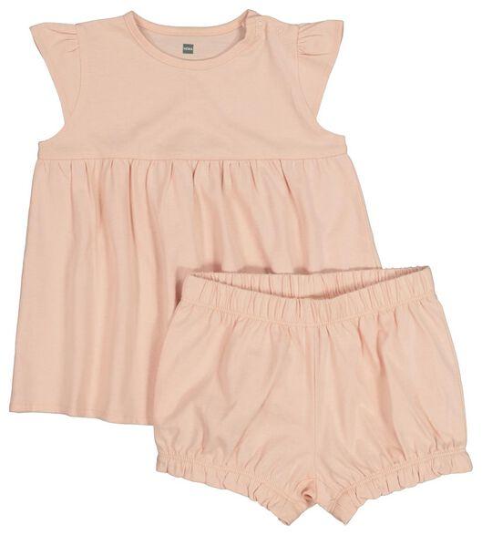 2-pak babydoll - jurk en broekje lichtroze lichtroze - 1000019184 - HEMA