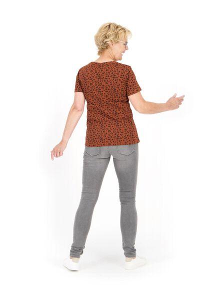 dames t-shirt bruin bruin - 1000014746 - HEMA