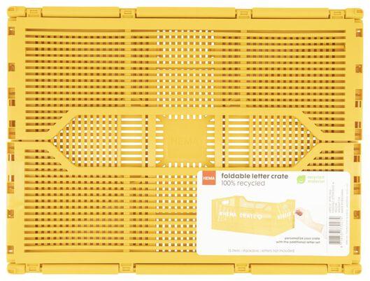 klapkrat letterbord recycled 30x40x17 - geel - 39821024 - HEMA