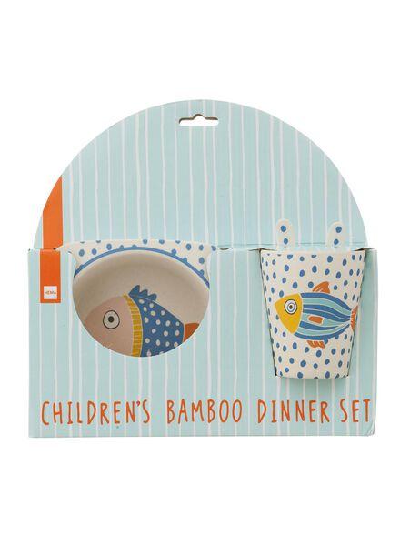 bamboe kinderservies - 60010071 - HEMA