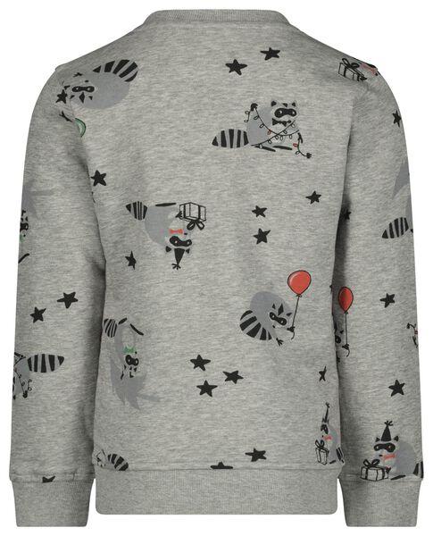 kindersweater wasbeer grijsmelange - 1000021644 - HEMA