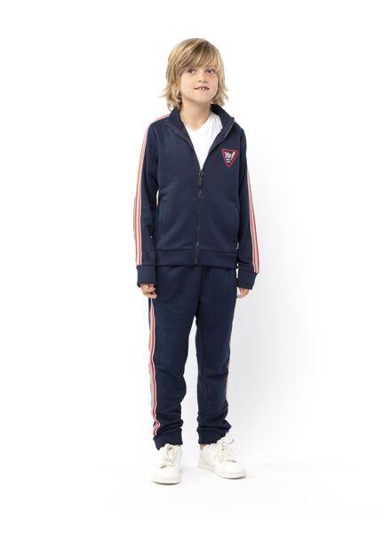 kindertrainingsjack donkerblauw donkerblauw - 1000013952 - HEMA