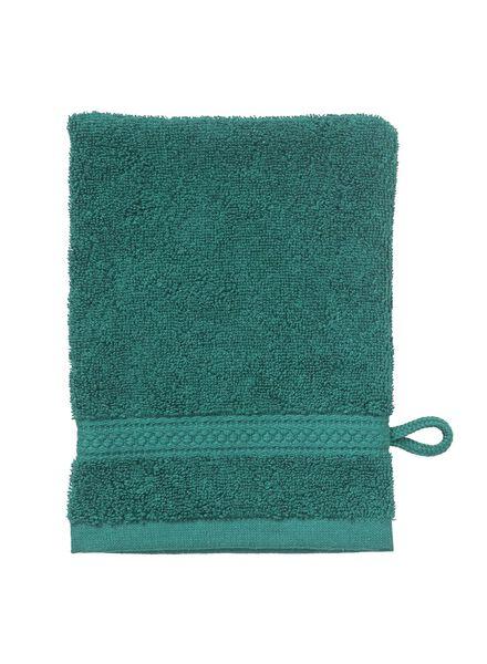 washand - zware kwaliteit - donkergroen uni groen washandje - 5240020 - HEMA