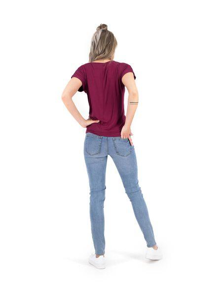 dames top donkerrood donkerrood - 1000014845 - HEMA