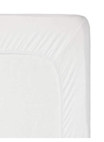 hoeslaken - flanel - 180 x 200 cm - wit - 5140113 - HEMA