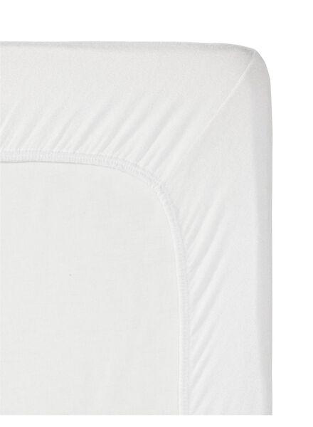hoeslaken - flanel - 140 x 200 cm - wit wit 140 x 200 - 5140114 - HEMA