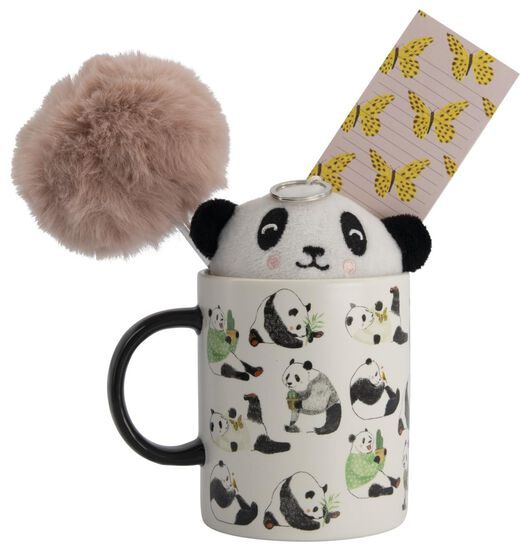 schrijfwaren cadeauset panda 4-delig - 14120001 - HEMA