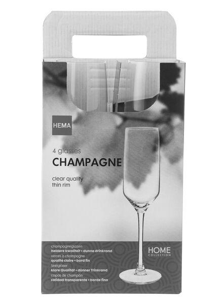 4-pak champagneglazen 230ml - 9401013 - HEMA