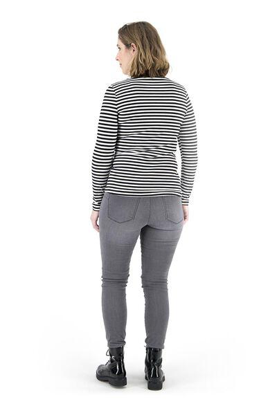 dames t-shirt zwart/wit zwart/wit - 1000018257 - HEMA