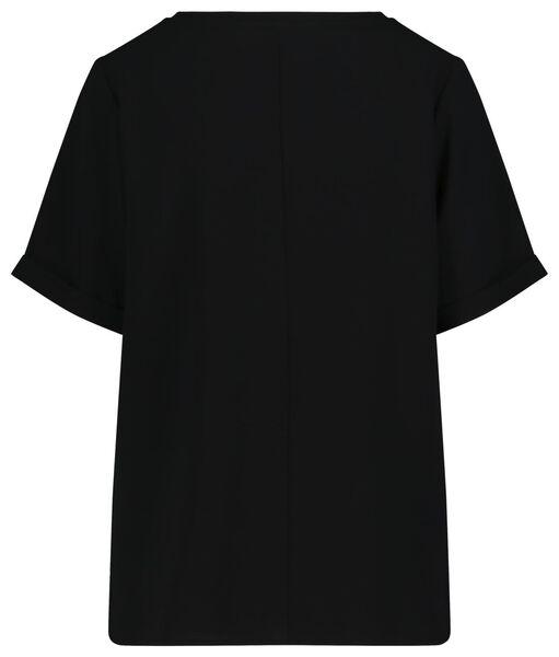 dames top zwart L - 36387433 - HEMA