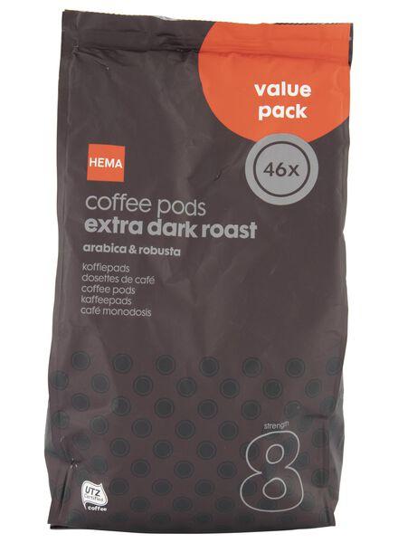 koffiepads extra dark roast - 46 stuks - 17100026 - HEMA
