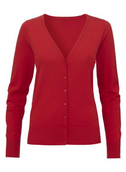 damesvest rood rood - 1000011649 - HEMA
