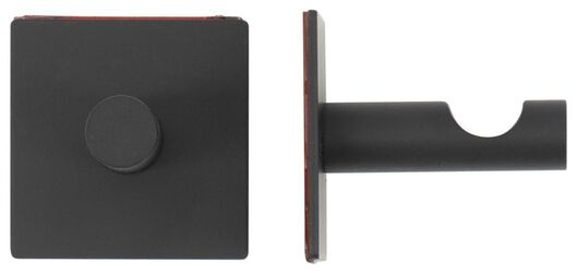 plakhaken - 3.5x3.5cm - rvs - zwart - 2 stuks - 80380010 - HEMA