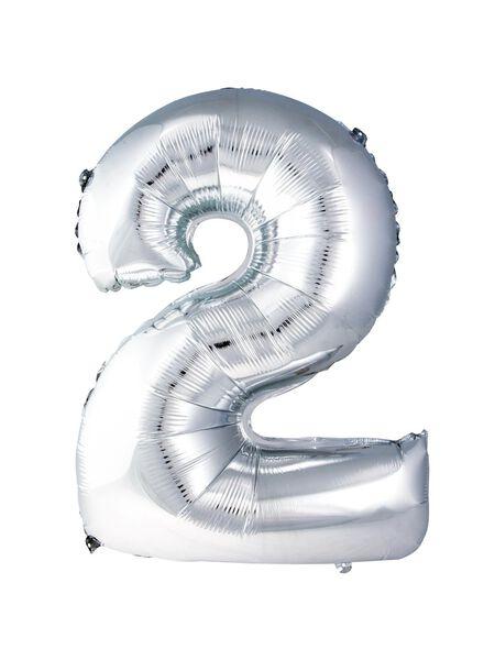 XXL folie ballon cijfer 2 - 60800182 - HEMA