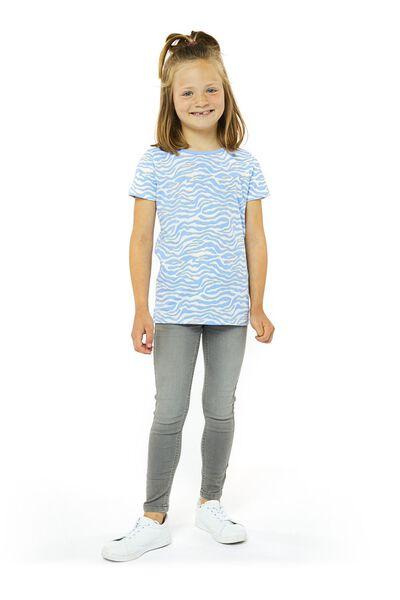 kinder t-shirt blauw blauw - 1000020007 - HEMA