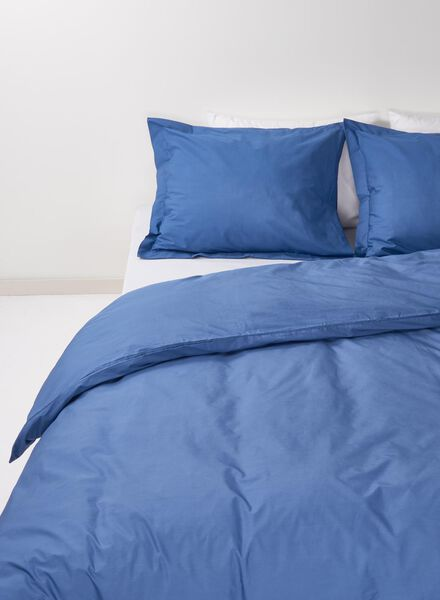 dekbedovertrek - hotel katoen percal - 140 x 200 cm - blauw - 5791233 - HEMA