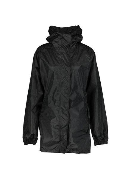 opvouwbare regenjas zwart zwart - 1000013907 - HEMA