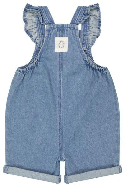 baby jumpsuit denim ruffle blauw blauw - 1000023363 - HEMA