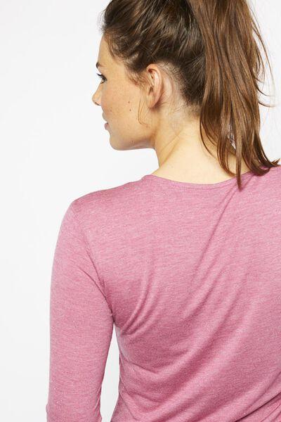 dames t-shirt met glitter roze - 1000021443 - HEMA