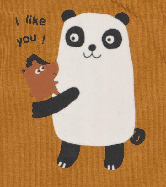 newborn t-shirt met bamboe panda bruin bruin - 1000020815 - HEMA