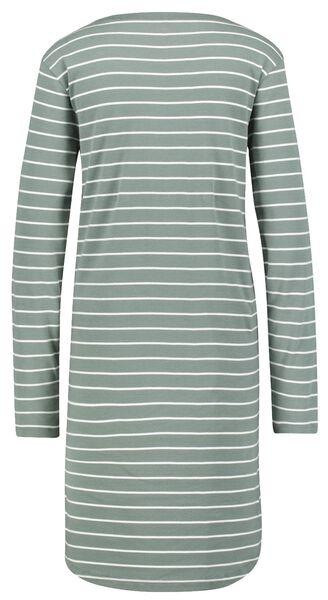 dames nachthemd katoen strepen groen XL - 23421774 - HEMA