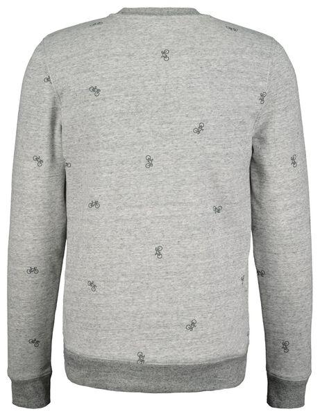 herensweater grijsmelange grijsmelange - 1000017631 - HEMA