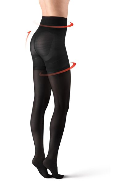 ultimate control panty 40 denier zwart zwart - 1000012493 - HEMA
