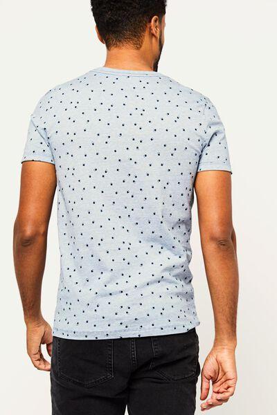 heren t-shirt blauw blauw - 1000022455 - HEMA