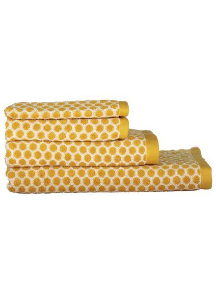 handdoeken - zware kwaliteit - gestipt okergeel okergeel - 1000015149 - HEMA