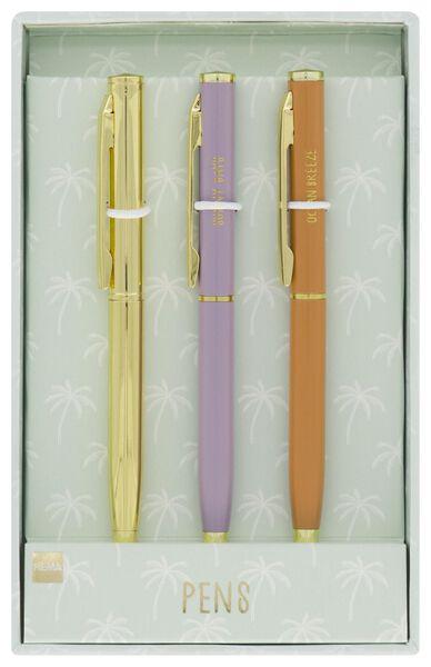 cadeauset mini balpennen - 3 stuks - 14420012 - HEMA