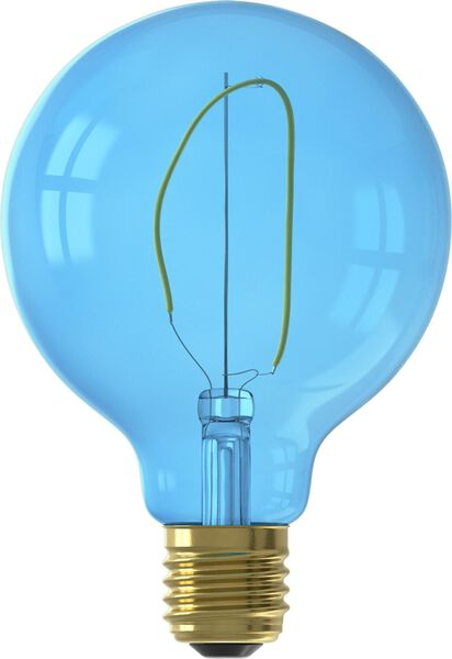 LED lamp 4W - 80 lm - globe - G95 - blauw - 20000021 - HEMA