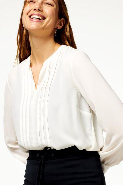 damesblouse gebroken wit XL - 36228389 - HEMA