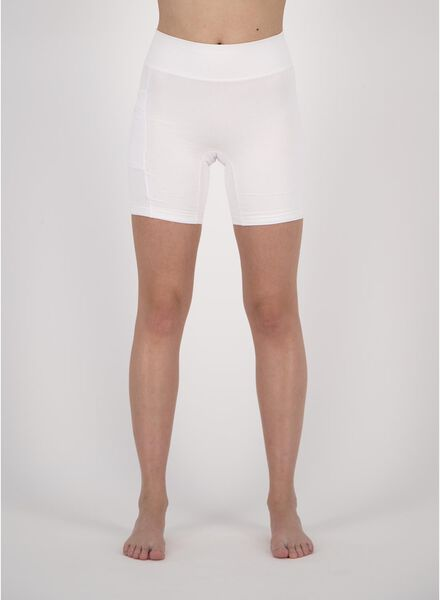 dames fietsshort real lasting cotton wit wit - 1000019864 - HEMA
