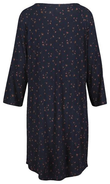 damesnachthemd donkerblauw donkerblauw - 1000018760 - HEMA