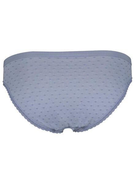 damesslip naadloos micro blauw blauw - 1000013642 - HEMA